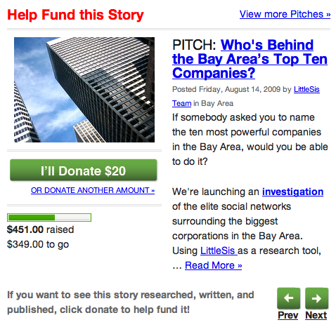 Help Fund this Story