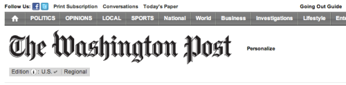 The Washington Post makes it personal.