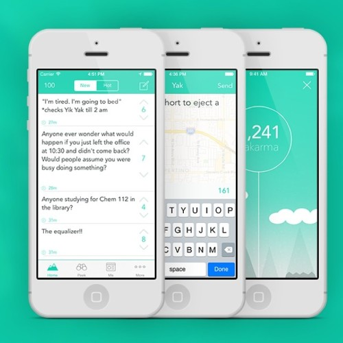 The Yik Yak application has taken college campuses by storm over the last year. Image via Instagram @yikyakapp