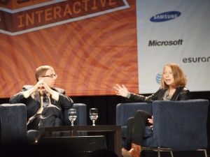 Jill Abramson and Evan Smith, SXSW panel. Photo courtesy of Anna Hanks via Flickr